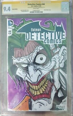 Detective Comics #44 CGC 9.4 W/P SIGNED & COLOUR SKETCH BY RYAN BROWNE