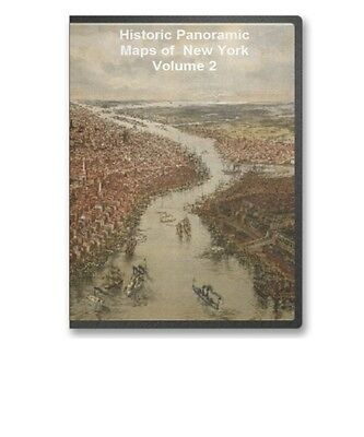 New York NY - 97 Vintage Panoramic City Maps on CD V2 - B179