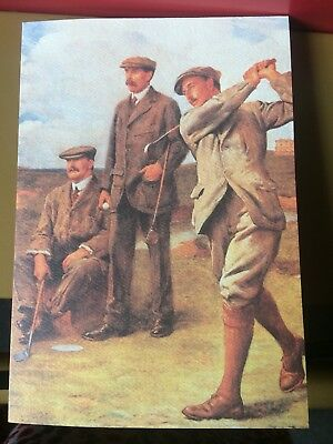 Vintage  Birthday  Greeting Card. Men Wearing Golf Knickers & Suits, 1920's