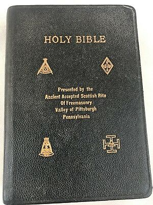 Holy Bible Ancient Accepted Scottish Rites Freemasonry Valley Of Pittsburgh PA