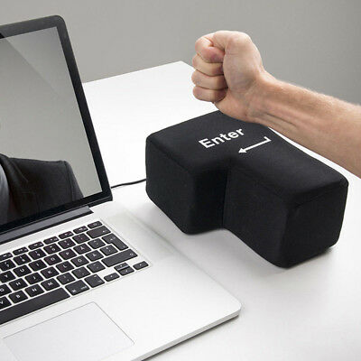 Anti Stress Relief Supersized Enter Key Big Enter Button Unbreakable USB Pillow