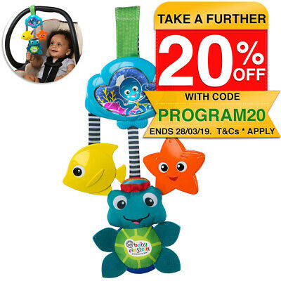 Baby Einstein Hanging Music Glow Go/Musical Toy for Stroller/Car Seat/Infant 0m+