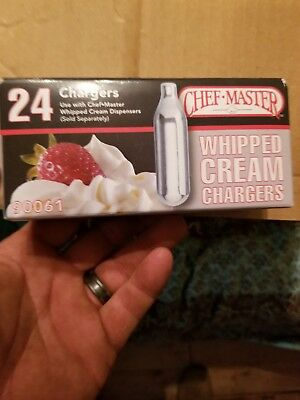 Chef Master N20 Whipped Cream Chargers 24 Chargers per pack 90061
