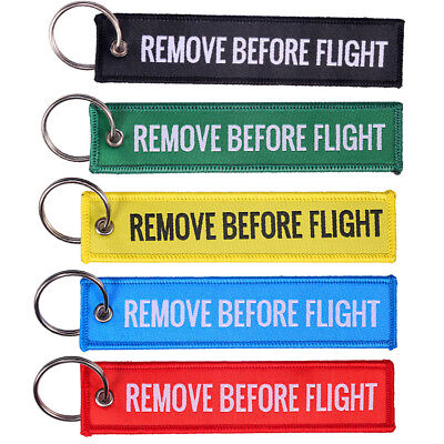 Remove Before Flight Key Chain Motorcycle Lock Keychain Strap Tag Key Ring Firm