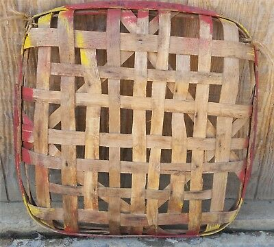 Naive Primitive Tobacco Basket Knoxville Western Avenue Home Decor Hand Made