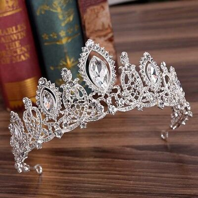 Crystal Rhinestone Tiara Hair Accessories Wedding Bridal Party Headdress Crown
