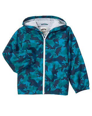 28bad9b4a8645 NWT GYMBOREE FIELD Expedition Dinosaur Camo Windbreaker Jacket Boys ...