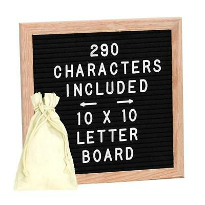 Letter Board, Changeable Boards ShiningDay 10x10 Inches Oak Frame Felt Include &