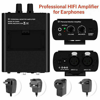For ANLEON S1 Dual XLR Personal Ear Headphone Amplifier In-ear Monitor System TP