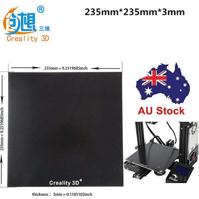 AU STOCK Creality 3D Printer Ender 3/5/Pro 235X235mm Borosilicate Glass Heat Bed