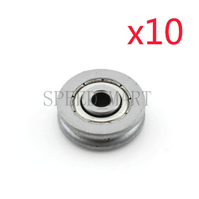 10pc 6x30x8mm U Groove Guide pulley Sealed Rail Ball Bearing
