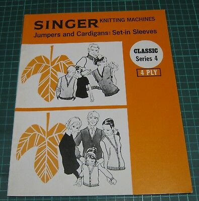 Singer Knitting Machine Pattern Jumpers Cardigans Set in Sleeves 4 ply sweater