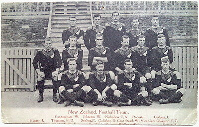 New Zealand Rugby Football Team To Uk 1905 Postcard