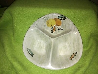 Vintage Radford of England Hand painted divided split bowl fruit art deco style