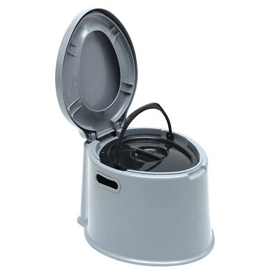 US 5L 2 Gallon Portable Toilet Flush Travel Camping Outdoor Indoor Potty Commode