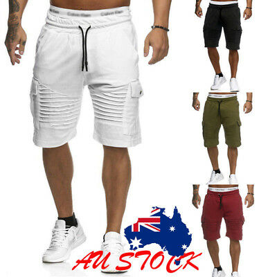 Men's Casual Short Pants Gym Fitness jogging Running Sports Wear Shorts AU STOCK