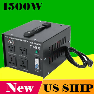 Step Up and Down 1500W Heavy Duty Voltage Transformer 110V to/from 220V New SW