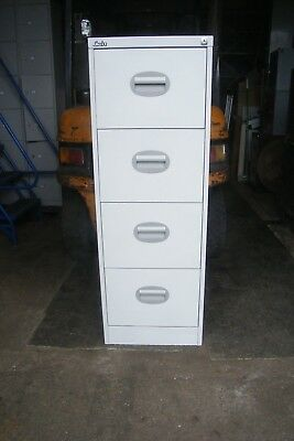 Grey Silverline Four Drawer Filing Cabinet With Lock And 2 Keys