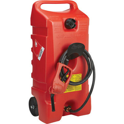 Scepter 06792 Flo N'Go DuraMax Portable Wheeled Fuel Container, Red,