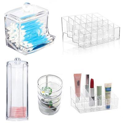 Clear Acrylic Makeup Cosmetic Organizer Case Jewelry Storage Box Holder TR