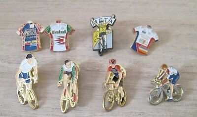 Pin's Badge Collection Lot De 8 Pins Cyclisme Banesto Once