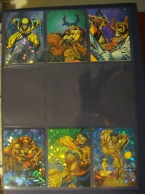 1992 Wolverine From then til now II complete full set 6 insert chase prism promo