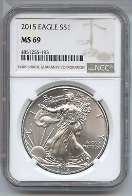 2015 American Eagle Silver Dollar 1 oz NGC MS 69 Certified - Philadelphia AS806