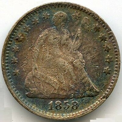 1858 Seated Liberty Half Dime - JT404