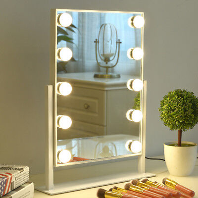 Hollywood LED Vanity Makeup Mirror Lights Kit  + 10 Dimmable White Bulbs Circle