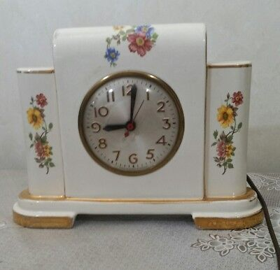 Antique Ceramic/Porcelain Mantel Clock Sessions Movement Model W ~ Parts Repair