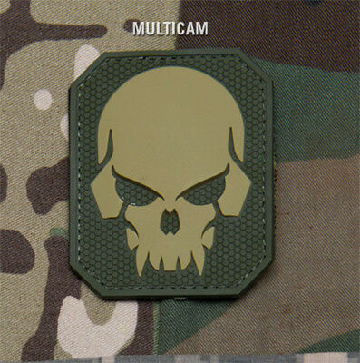 Mil-Spec Monkey Large PIRATE SKULL PVC Multicam Military Army Morale Patch