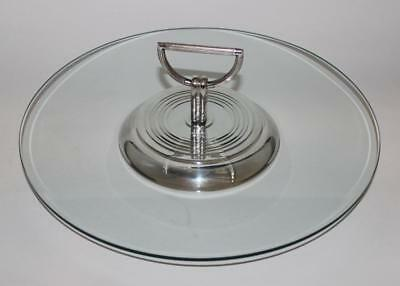 Christofle France, Silver Plated Vibrations Cheese Hors D'oeuvres Tray, 12 1/4""