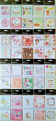 Pack of 8 Mini Thank You Cards Notelets Any Occasion