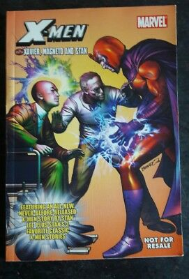 Collectable 2006 X-Men Marvel Mini  comic book Xavier Magneto and Stan Lee