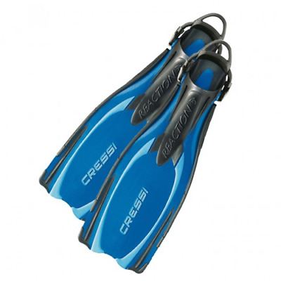 Cressi Fins Open Hell Plana with Strap for Scuba Dive reaction ebs blue 4UK