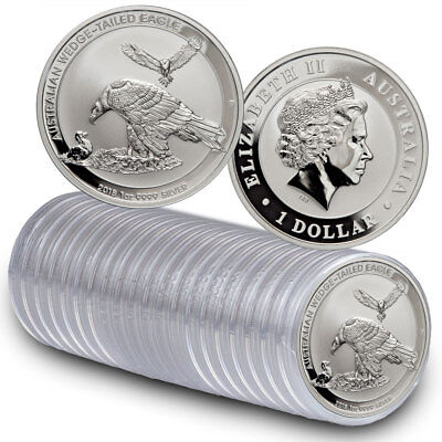 Roll of 20 -2018-P Australia 1 oz Silver Wedge-Tailed Eagle $1 Coins BU SKU52643