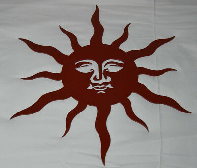 "17"" Sun Face Heavy Duty Steel Metal Wall Art Home Indoor Outdoor Garden Decor"