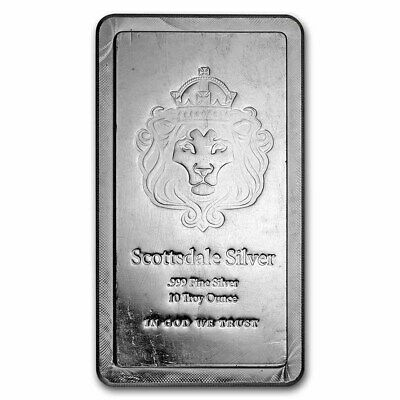 10 oz Silver Bar - Scottsdale Mint (Stackable) - SKU#171801