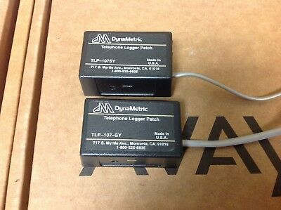 lot of 2 DynaMetric  Telephone Logger Patch TLP-107SY TLP-107-SY