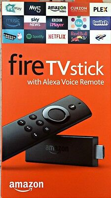 Amazon Fire TV Stick with Alexa Voice Remote (2nd Generation 8GB Media Streamers