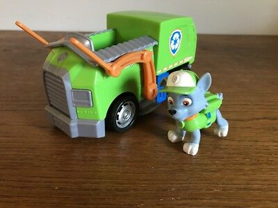 paw patrol rocky s recycling truck 6 inch vehicle with rocky