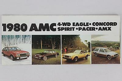 AMC 1980 4-WD Eagle Concord Spirit Pacer Sales Brochure / Literature