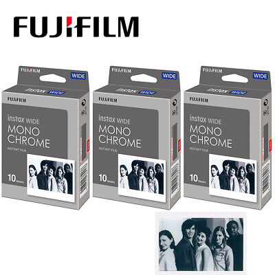 Fujifilm Instax WIDE Film Monochrome - Fuji WIDE 100 210 300 Camera Photo Sheets