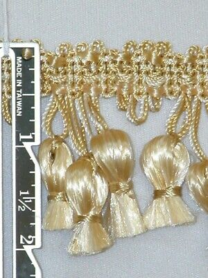 "2"" Attractive Tassel Fringe Trim Gold Aqua Bronze Wholesale 40 Yards"