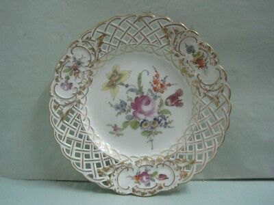 Antique Dish porcelain with flower Meissen Germany (1)