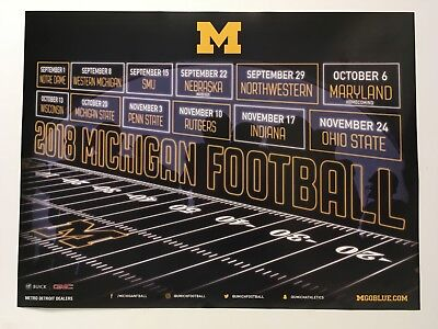2019 UNIVERSITY OF Michigan Wolverines Football Poster
