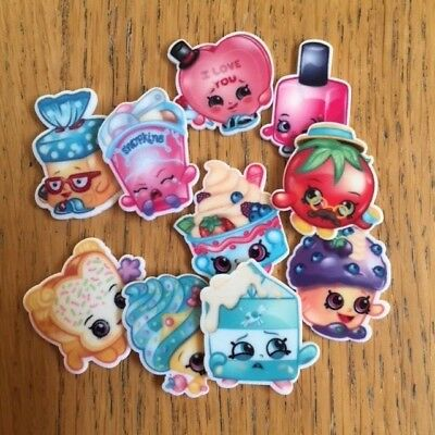 Shopkins resin tiles, Embellishments, Craft supplies, Party supplies, Stickers