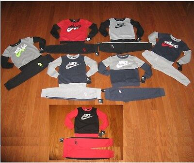 Nike Boys' 2-Pc. Sweatshirt & Pants Outfit Set Size 4 / 5 / 6/ 7  NWT