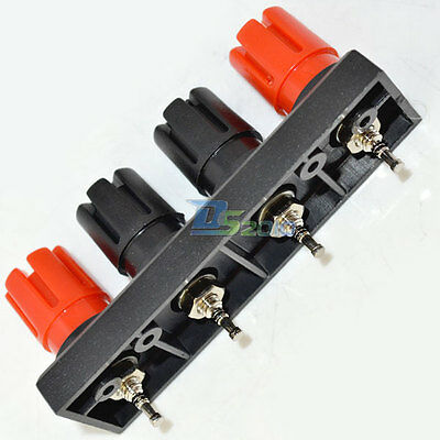 4-Pole Push Speaker Terminal TO Amplifiers Binding Post For 4MM Banana Plug New