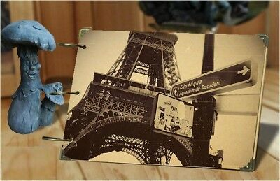 DIY 30Pages 26.8cm x 16.7cm Kraft PARIS TOWER Photo Album Wedding Scrapbook
